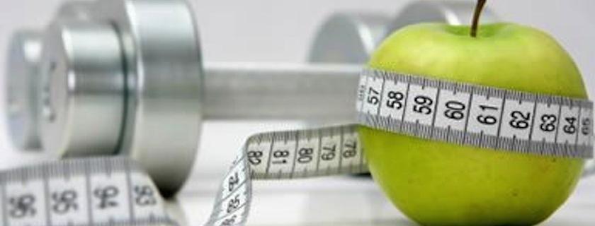 apple, measuring tape