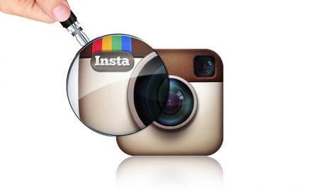instagram, magnifying glass