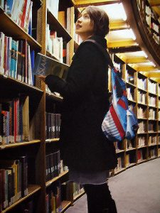 library, browsing, books