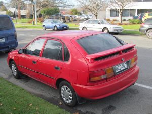 Toyota, Red Car, 1996 Toyota Corolla,
