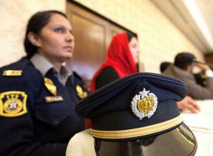women, police officer, uniform,