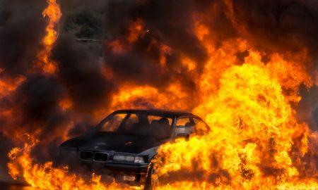 Woman Saves Man From Burning Car