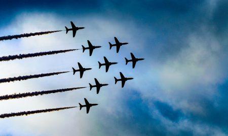 Planes in sky