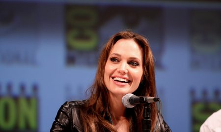 Angelina Jolie smiling