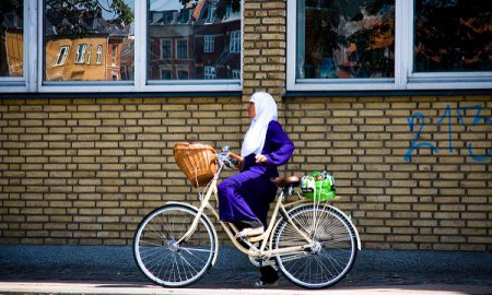 Muslim Woman on Bike