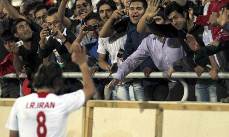 Iranian football crowd