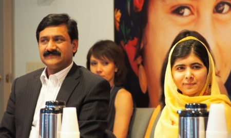 Malala and Ziauddin Yousafzai