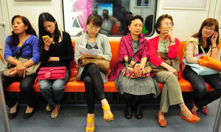Chinese women on subway