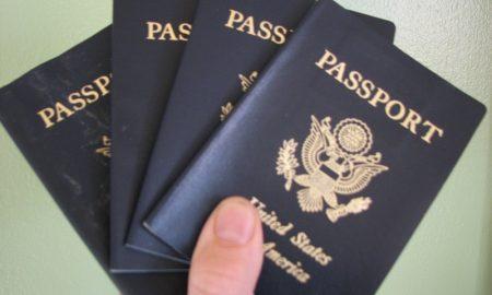 Holding passports