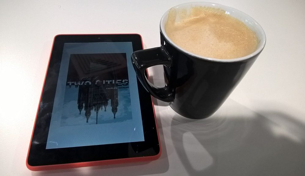 Relaxing Coffee and E-Book Read
