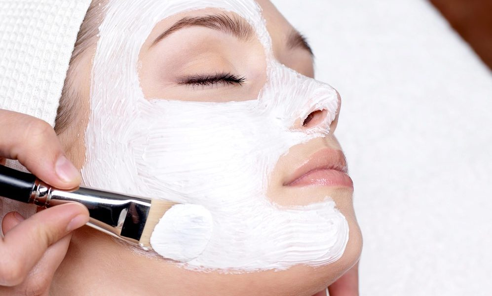 Woman Receiving Skincare Treatment