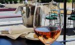A glass of pinot noir