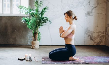 Woman Stretching to Improve Posture